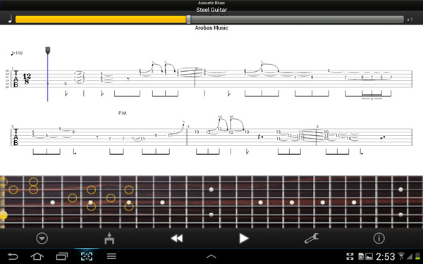 Guitar tabs blank space